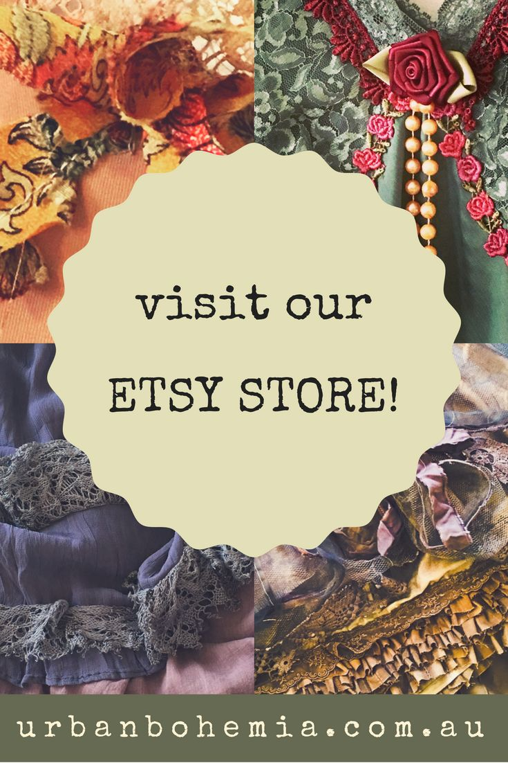 For vintage bohemian treasures and hand adorned clothing