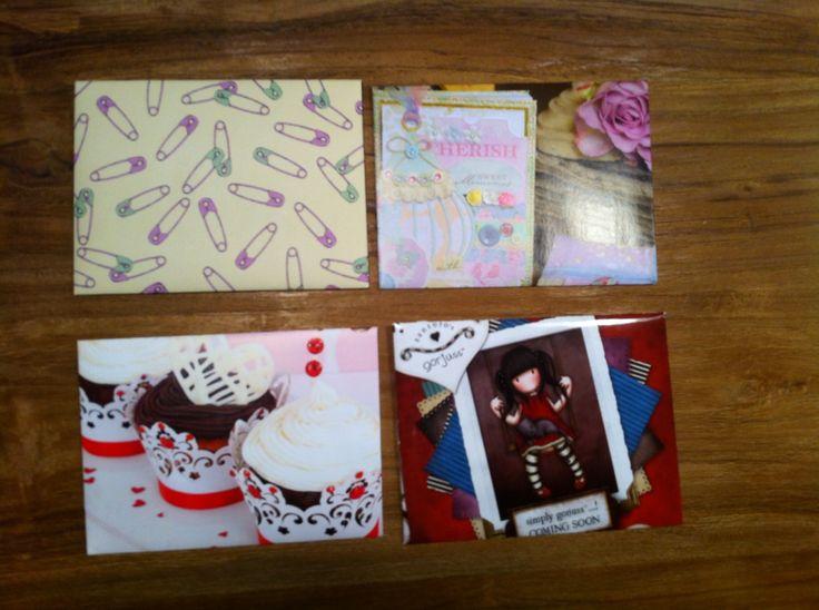 Envelopes. Love the Gorjuss one