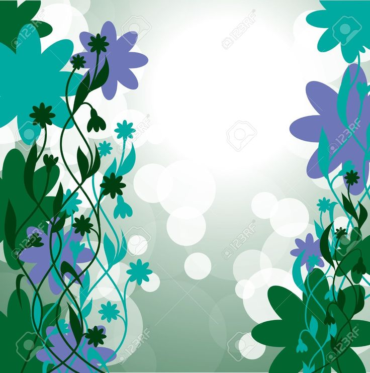 Fondo Floral Abstracto Eps10 Ilustraciones Vectoriales, Clip Art Vectorizado Libre De Derechos. Pic 13000710.