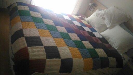 La última creación, colcha multicolor para una amiga especial
