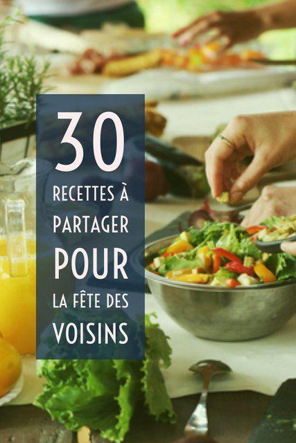 Sucrées ou salées, des recettes supers faciles pour arriver avec de bons plats à la fête des voisins !!!