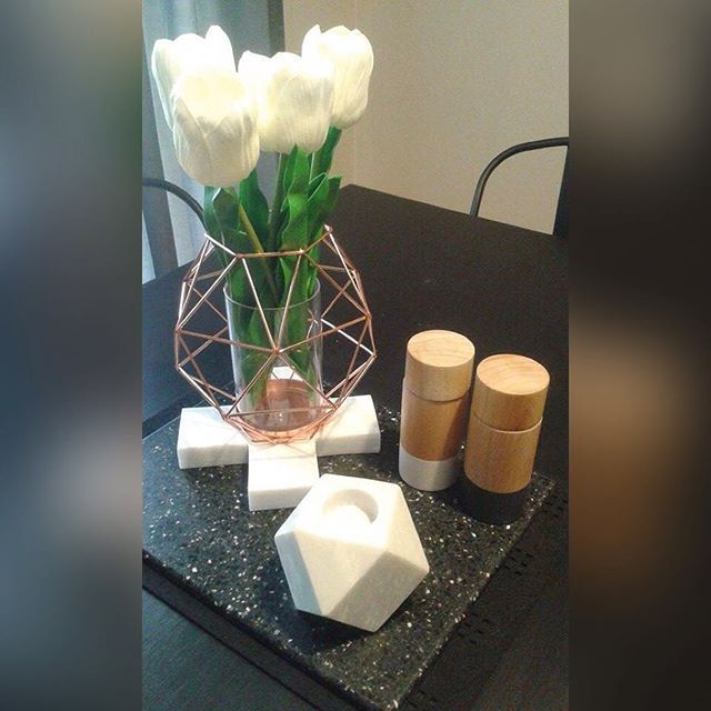 @kmartaus Marble cross & tealight holder (both $9) and @targetaus wooden salt/pepper grinders ($10ea).