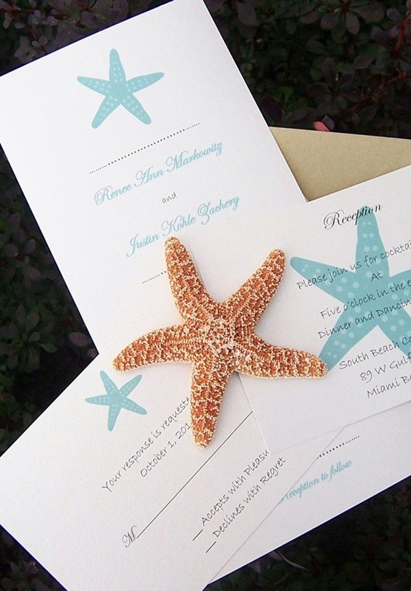 30 best wedding invitations images on Pinterest | Beach weddings ...