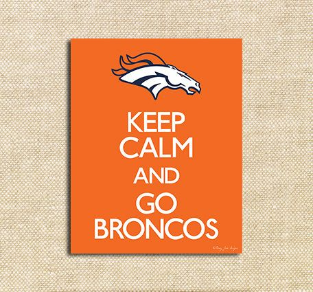 Broncos Superbowl Football Night Printable Poster | Instant Download | Broncos vs Seahawks Superbowl Party Decor