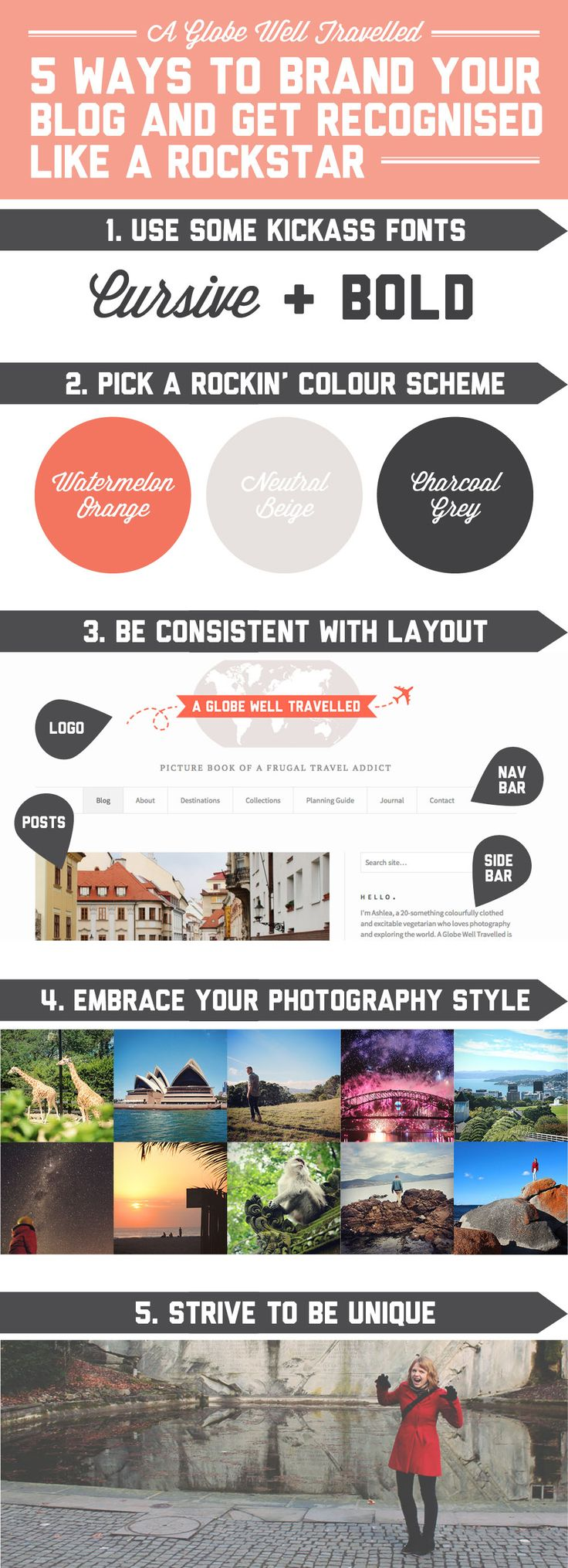 5 ways to brand your blog (and get recognised like a rockstar) / A Globe Well Travelled