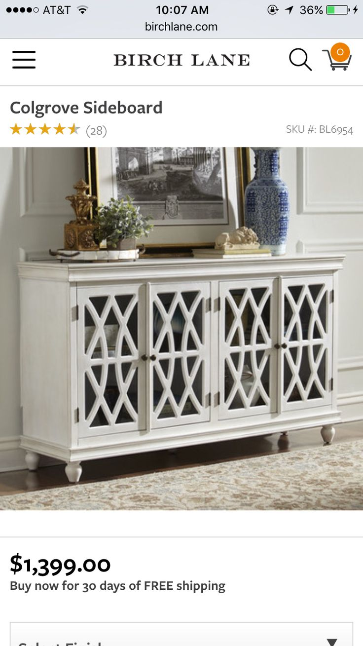 With 4 Glass Paneled Doors Overlaid With Intricate Fretwork, The Colgrove  Sideboard Brings Elegance And Storage To Any Dining Or Living Room.
