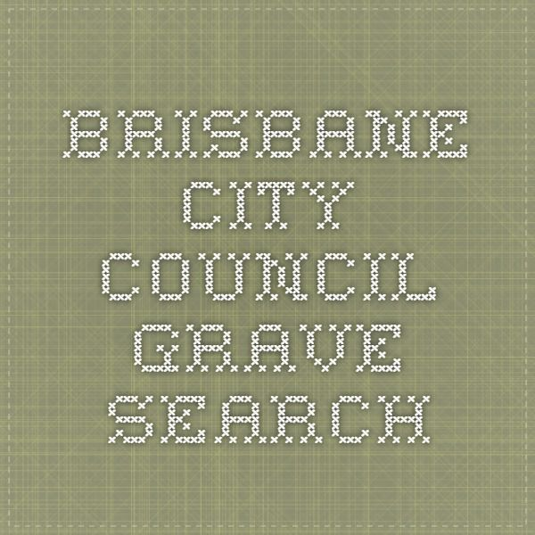 Brisbane City Council - Grave Search