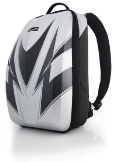 Axio Forza Backpack Hard Laptop Case Silver Motorcycle Bag | eBay ...