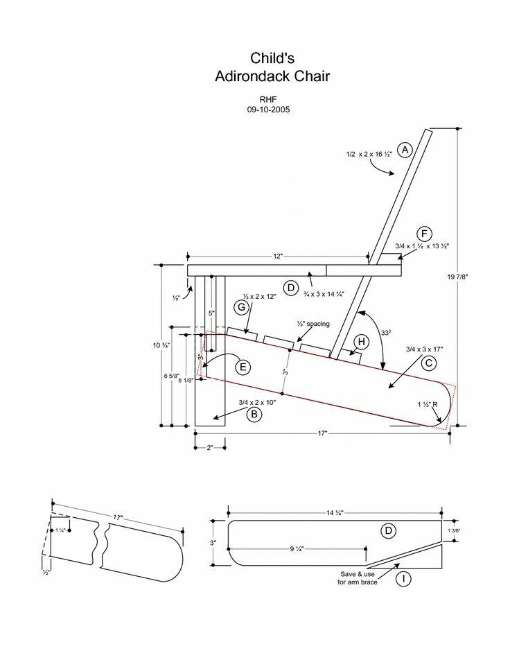 Adirondack Chair Plans Free Adirondack Deck Chair Plans Adirondack Chair Plans Ana White #Anawhite #Adi...