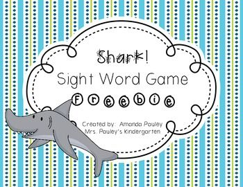 Want a fun way for your students to practice their sight words?  Well this is the game for you!  This ocean themed sight word game is an engaging game where students read sight words, but don't get a shark card because they scare away all the other ocean animals!I hope you enjoy my product.