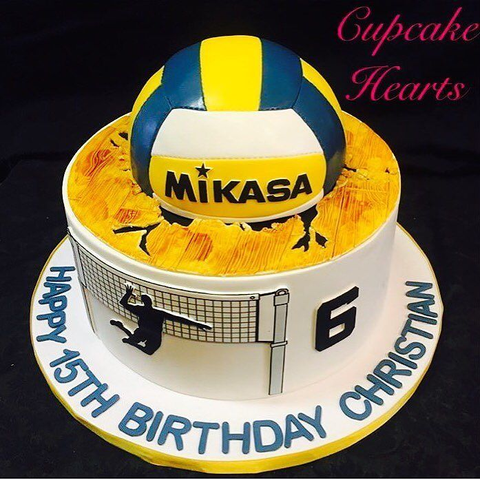 Volleyball cake no. 1  @cupcakeheartskissimmee