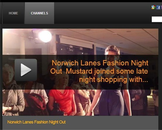 Mustard TV films some footage of the 'Rocks on the Runway' show which was held as part of Norwich Fashion Week.