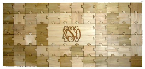 Wedding Guest Book Alternative, Custom Wooden Puzzle Guest Book, 65 PC - Anniversary Guest Book - Retirement Guest Book - Engraved