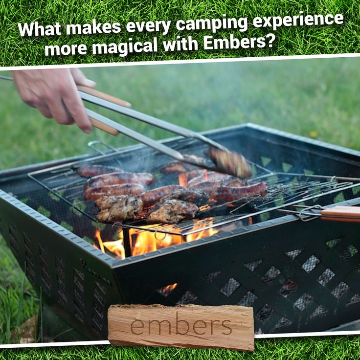Every Embers pitch comes with its own purpose-made fire pit and all of your firewood comes from our own sustainable supplies.