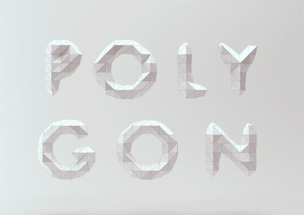 Low Poly Font / Mount