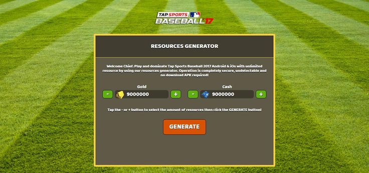 - Unlimited Gold - Unlimited Cash  Tap Sports Baseball 2017 Hack Online:  http://resources-generator.online/tap-sports-baseball-2017.html