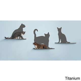 Cat Silhouette Cat Shelf (Set of 3) | Overstock.com Shopping - The Best Deals on Cat Furniture