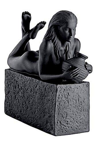 Porzellanfigur Sternzeichen Wassermann schwarz Frau H:18,5cm Royal Copenhagen