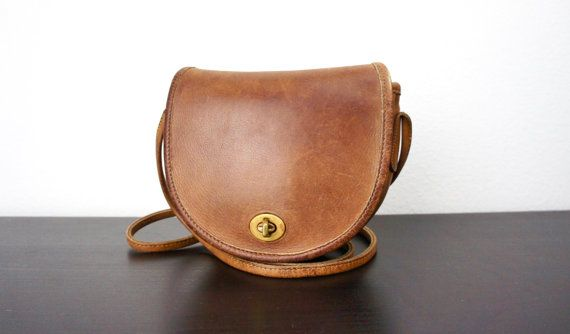 Vintage Coach Small Rounded Cross Body Bag by TheLionsDenStudio