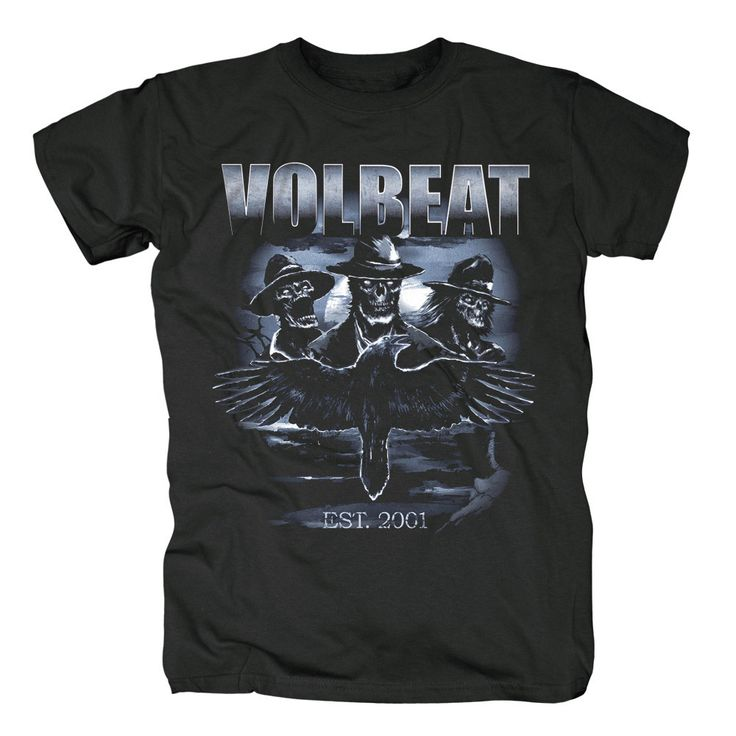 Free shipping  Cool Volbeat Danish Loud & Dirty Rock Band Black T-shirt Size S,M,L,XL,2XL,3XL