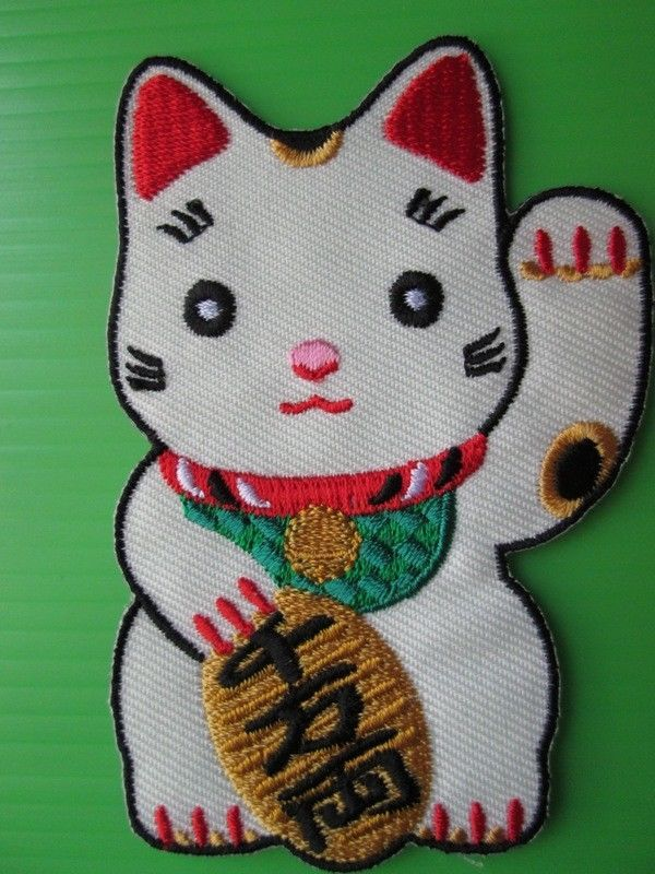 SANRIO GREEN HELLO KITTY  Fabric Embroidered Iron//Sew On Patch