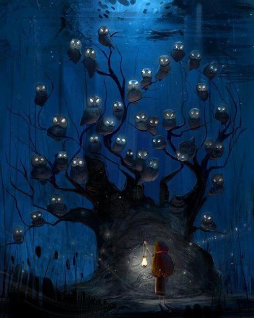 #owls in a #tree
