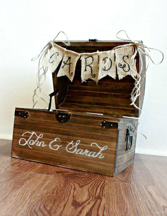 Large Shabby Chic Rustic Wooden Card Box Wedding Card by BoaAndBoo, $75.00