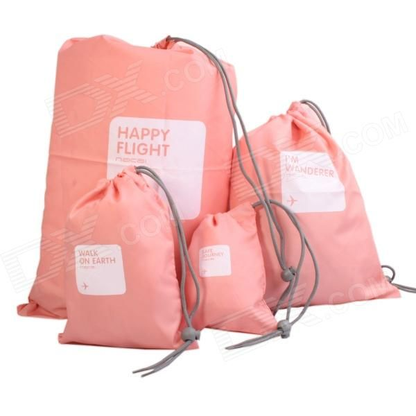 Color: Pink; Quantity: 1 Set; Material: Nylon; Type: Packing Organizers; Other Features: With 4 bags in total: XS: 140 x 105mm; S: 220 x 150mm; M: 300 x 220mm; L: 440 x 300mm. Good and convenient for storing daily life gadgets or carrying things for travel; Packing List: 1 x 140 x 105mm bag1 x 220 x 150mm bag 1 x 300 x 220mm bag1 x 440 x 300mm bag; http://j.mp/1vnTnGf