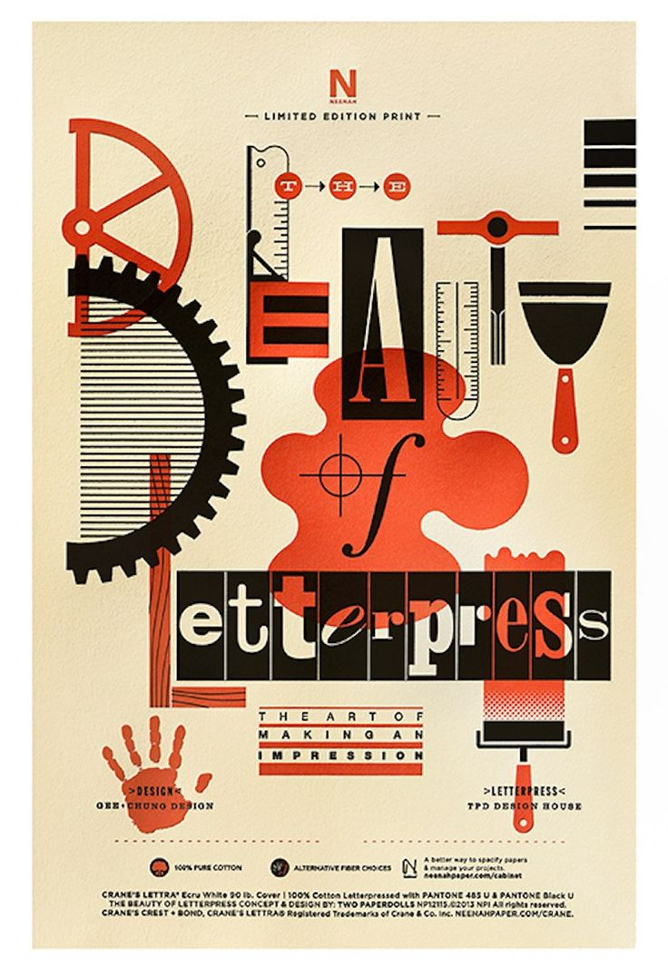 Jill DiNicolantonio of Parse & Parcel swoons for Neenah Paper's Russian Constructivist-inspired Beaty of Letterpress promotion piece.