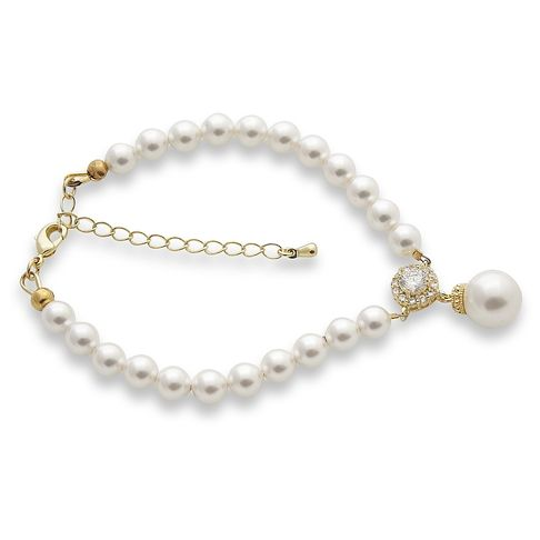 Pearl Bracelet in Gold Tone