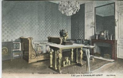 Chocolat-Louit Postcard - 78, Versailles, Musée du Grand Trianon, lit de Napoleon 1er
