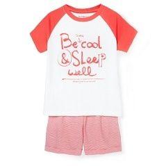 MANGO KIDS - JONGENS - NIEUW! Gestreepte katoenen pyjama