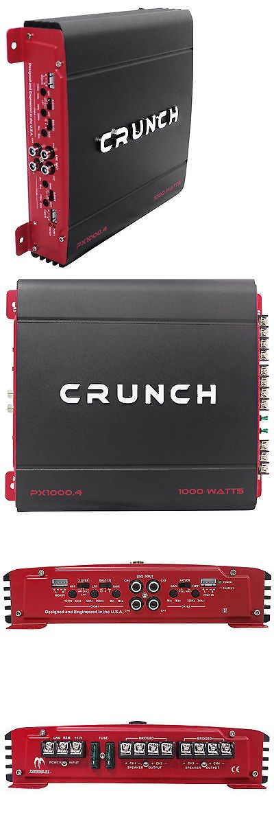Car Amplifiers: Crunch Px-1000.4 1000 Watt 4 Channel Powerful Car Audio Amplifier Amp Px1000.4 -> BUY IT NOW ONLY: $58.94 on eBay!