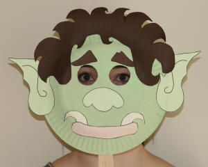 Troll Paper Plate Mask for The Three Billy Goat Gruffs. Act out story ...