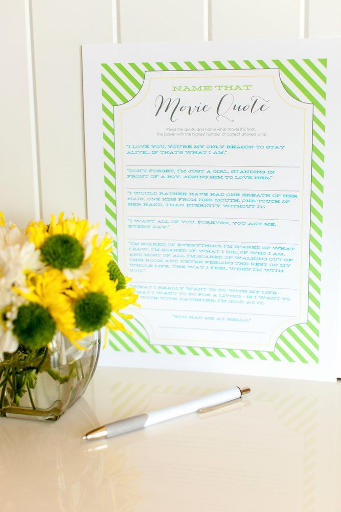 Bridal Shower Games Free Printables
