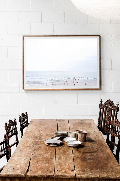 Limited Edition Gather Photographic Print; this image was captured by Kara Rosenlund off the Victorian coast. Special mention to the rough beauty of the wooden table top.