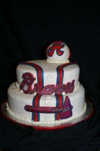 Atlanta Braves  Cake would love to do this for Tommy for his bday but would have to be Cinncinatti Reds!!