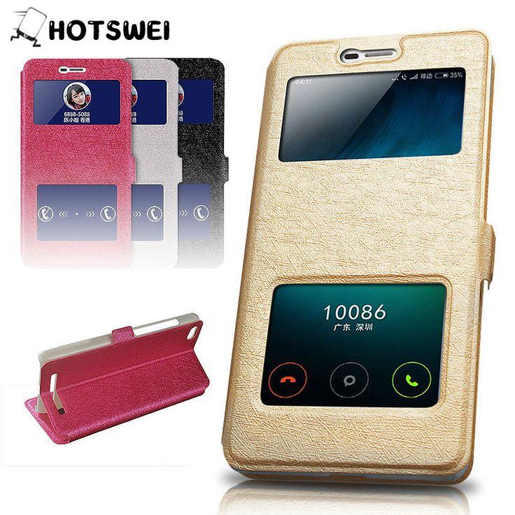 Luxury Window View Leather Flip Cover Case for Xiaomi Redmi Note 2 / Note 3 Redmi 2 Redmi 3S Mi4i Mi5 Mi4C Mi4S Phone Cover Case