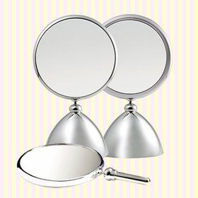 Korea made Henings Shiny Beauty Round Makeup Mirror(M)/2x magnifying mirror glass / wedding gift/Korea Gift Shop