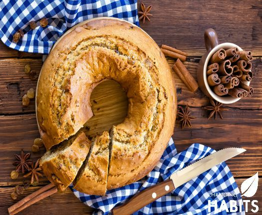 Turmeric & Cinnamon Banana Bread.  A nice twist on a family favourite!
