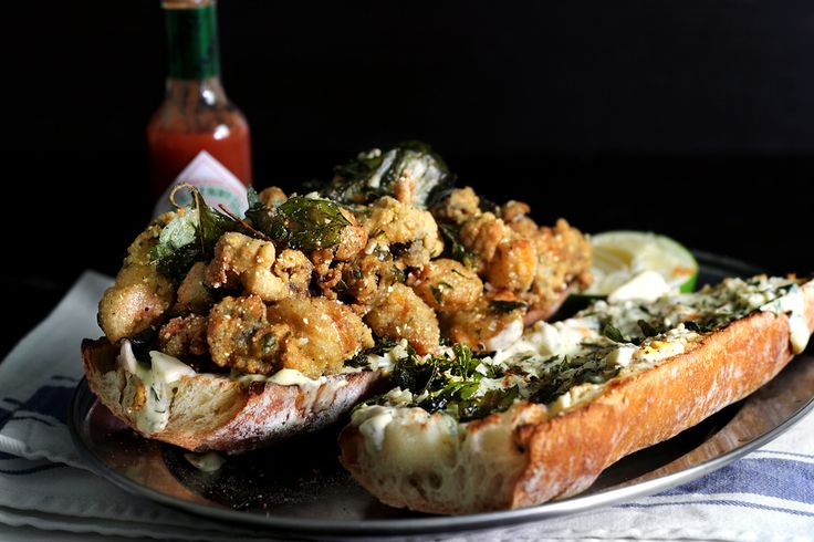 The one and only Fried Oyster Po'Boy