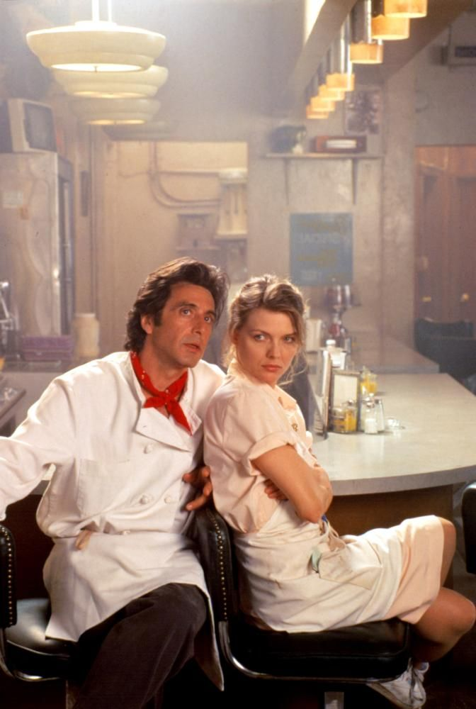 """Al Pacino and Michelle Pfeiffer in """"Frankie and Johnny"""": http://www.foxarchive.com/image/al-pacino-and-michelle-pfeiffer-in-frankie-and-johnny/"""