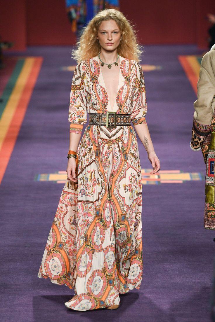 Etro Fall 2017 Ready-to-Wear Fashion Show - Frederikke Sofie look 36 Hippy Ingres