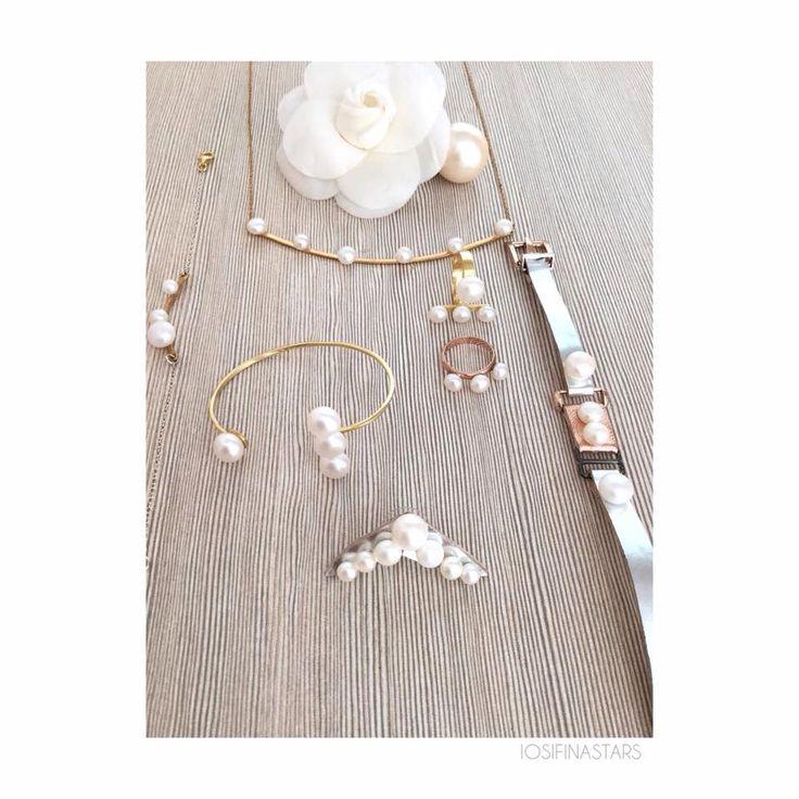 Girls love pearls! Handmade jewels by Iosifina