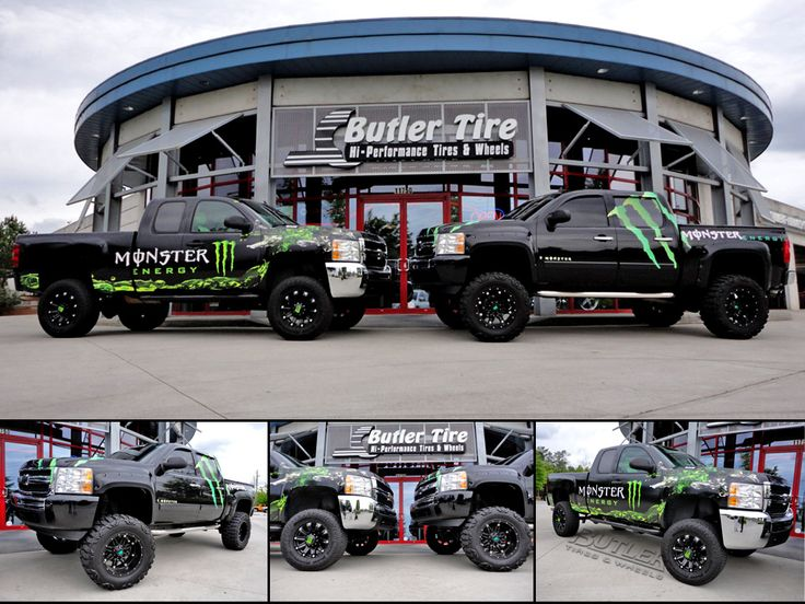 Monster Energy Chevy Silverado With Fuel Hostage Wheels