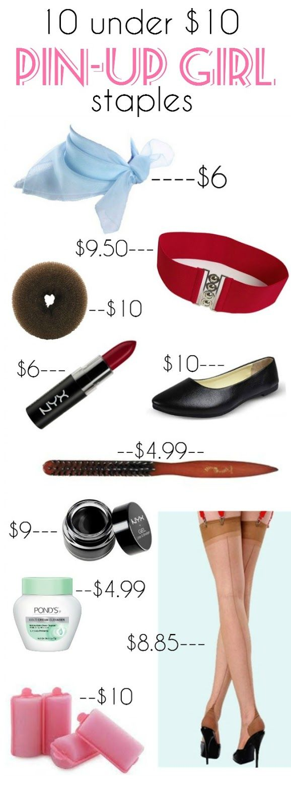retro pin-up girl style on a budget 10 staples under $10 from Va-Voom Vintage
