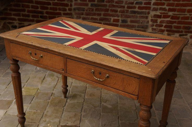 Bureau drapeau royaume uni vieilli : Meubles et rangements par urluetberlu