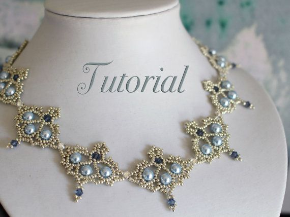 Beading tutorial 'Grace'  DIY beading pattern  by TrinketsBeadwork