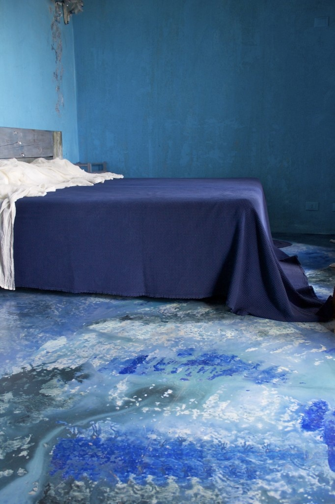 country house, shades of blue / blauwe kamer