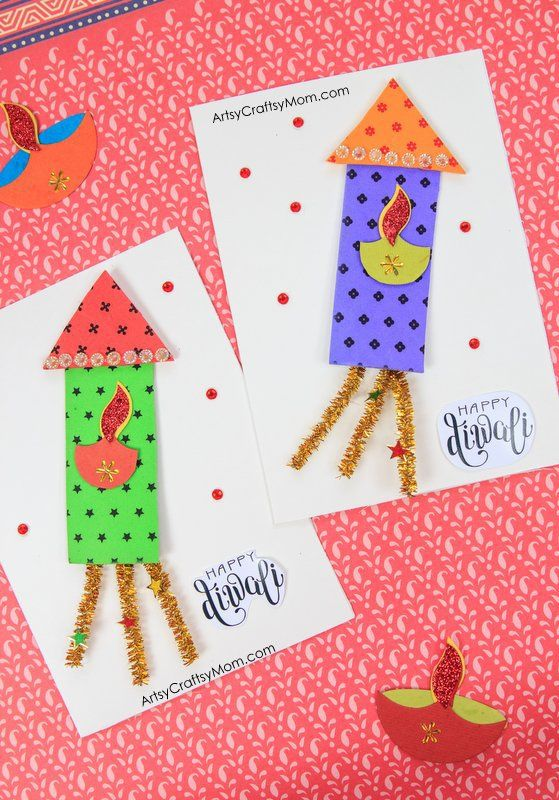 100+ Diwali Ideas - Cards, Crafts, Decor, DIY and Party food Ideas. Diya, Party and home decor, Easy crafts for kids, Rangoli ideas and yum Party food.